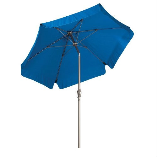 Pacific Blue 7.5 Ft Patio Umbrella With Push Button Tilt And Metal Pole