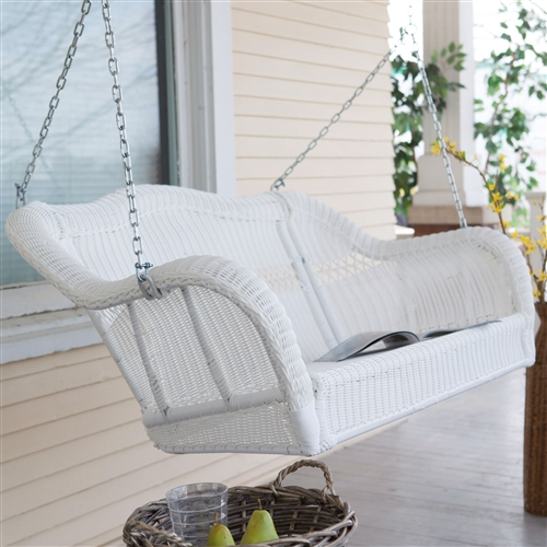 white porch swing lowes chain with stand resin wicker hanging lb weight capacity