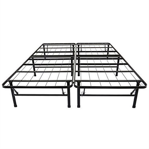 full size black metal platform bed frame fastfurnishingscom - Metal Platform Bed Frame