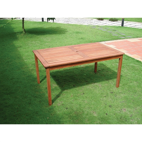 Rectangle 59 x 31 5 inch solid wood patio dining table for Dining at at t center