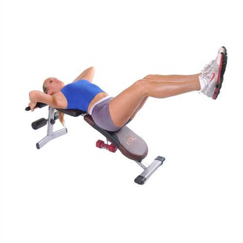 Adjustable 4 Position Incline Decline Flat Upright Fitness