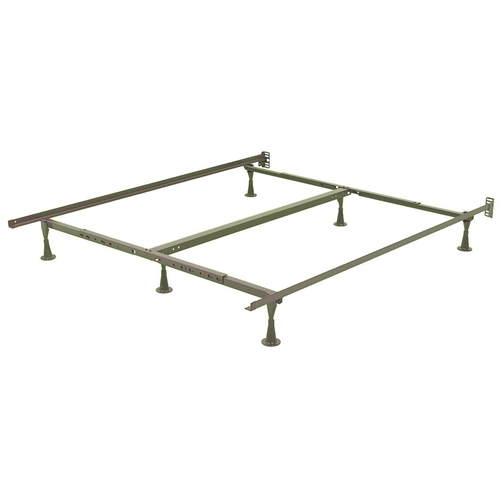 california king size metal bed frame with wide stance glide legs and headboard brackets. Black Bedroom Furniture Sets. Home Design Ideas