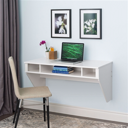White Space Saving Laptop Tablet Computer Desk Wall Mount