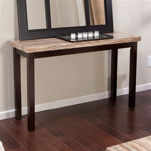 Console Tables With Picture Frames ~ Solid wood frame console sofa table in espresso with faux