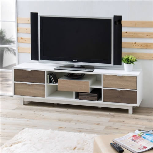 Modern 70 Inch White Tv Stand Entertainment Center With