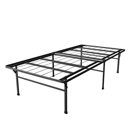 twin xl heavy duty 18 inch high rise metal platform bed frame. Black Bedroom Furniture Sets. Home Design Ideas