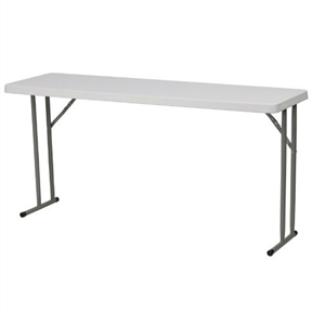 White Top Commercial Grade 60 Inch Folding Table Holds