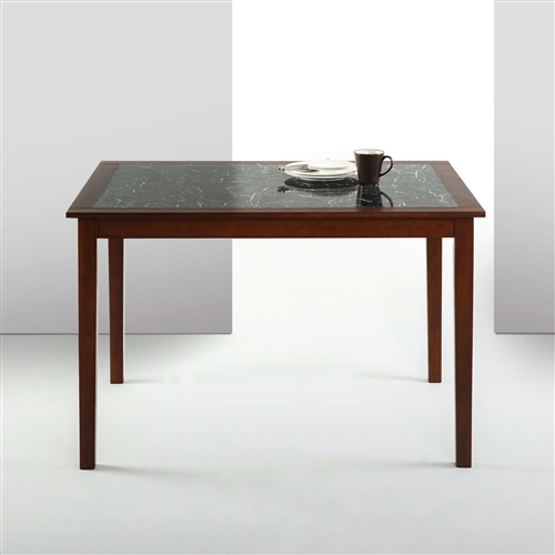 Rectangular 48 X 36 Inch Brown Wood Dining Table With Faux