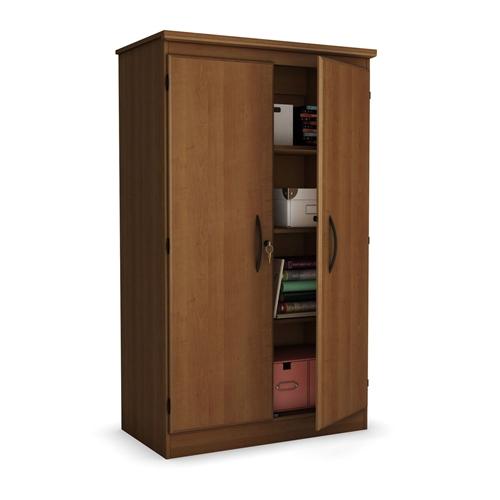 cherry 2 door storage cabinet wardrobe armoire for bedroom living room or home office. Black Bedroom Furniture Sets. Home Design Ideas