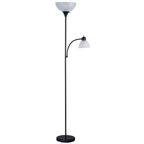 72 inch tall black floor lamp with adjustable reading side lamp. Black Bedroom Furniture Sets. Home Design Ideas
