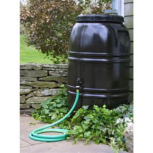 60 Gallon Rain Barrel In Earth Brown Food Grade Plastic