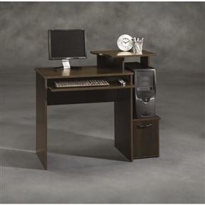 40 Inch Wide Dark Wood Computer Desk Fastfurnishings Com