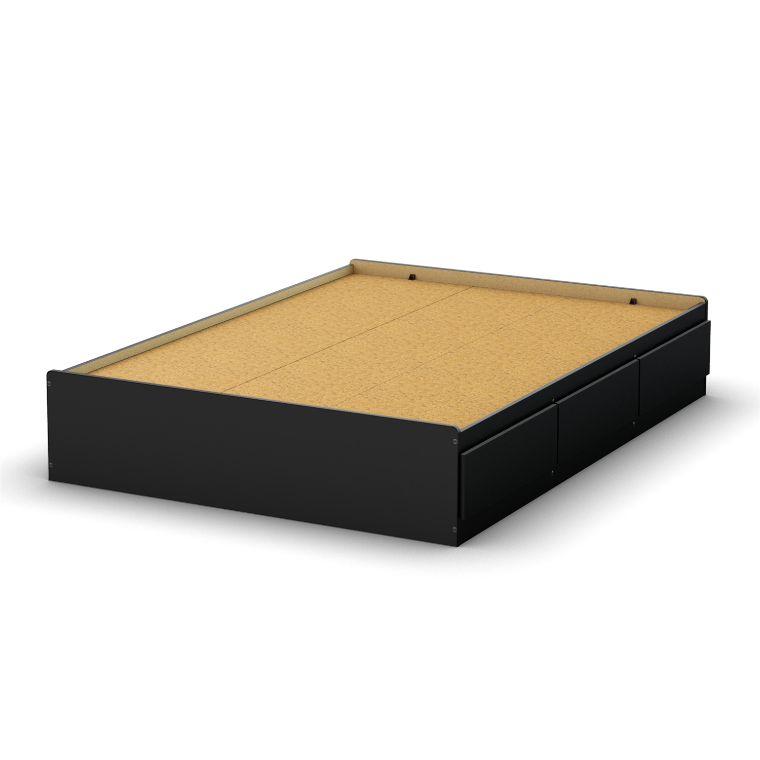 Full Size Modern Platform Bed With 3 Storage Drawers In Black Ebay