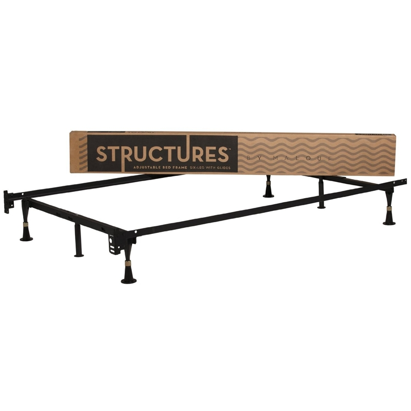 Structure 6-Leg Adjustable 2-in-1 Twin / Full Size Metal Bed Frame at Sears.com