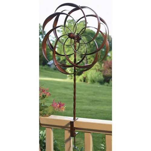 copper plated metal spinning yard garden deck rail