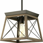 Antique Bronze Dimmable Light Lantern Geometric Chandelier