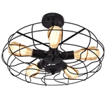 5 Light Modern Black Iron Sphere Modern Chandelier