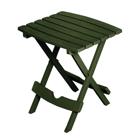 Folding Outdoor Side Table In Earth Brown Durable Plastic