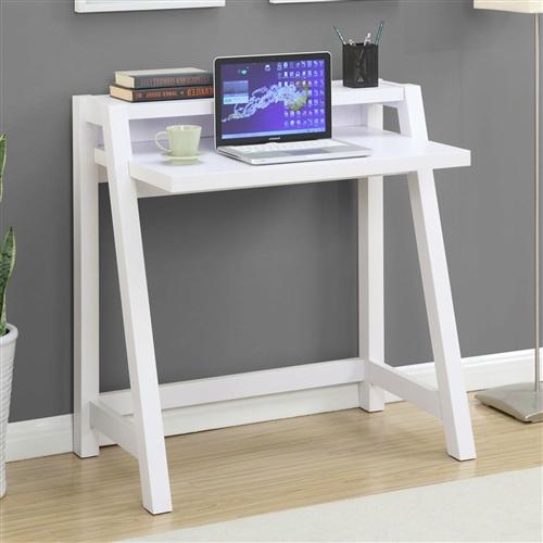 White Modern Minimalist Compact Laptop Computer Desk