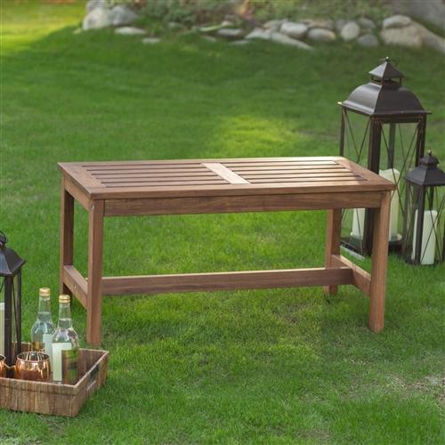 3 Ft Outdoor Backless Garden Bench In Dark Brown Wood