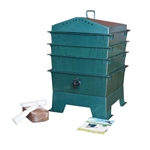 Dark Green Vermicompost 3-Tray Worm Composter with Compost Worm Tea Spigot