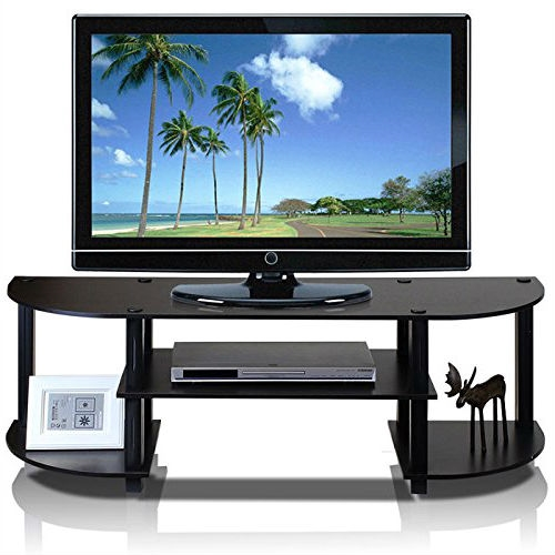 Espresso Black Tv Stand Entertainment Center Fits Up To 42 Inch