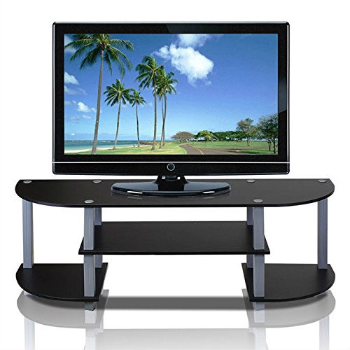 Contemporary Grey And Black Tv Stand Fits Up To 42 Inch Tv