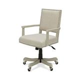 Oatmeal Linen Upholstered Adjustable Height Tilt Task Office Chair