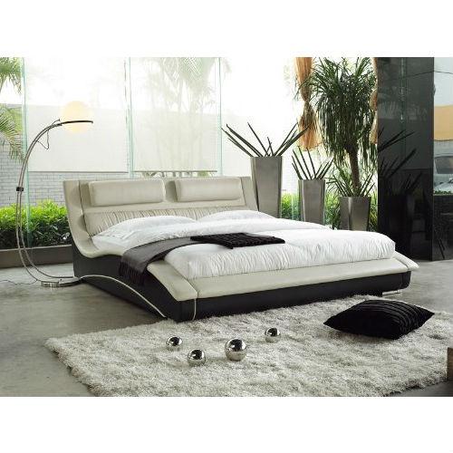 Modern Curvy Upholstered Platform Bed, Upholstered Platform Bed Queen
