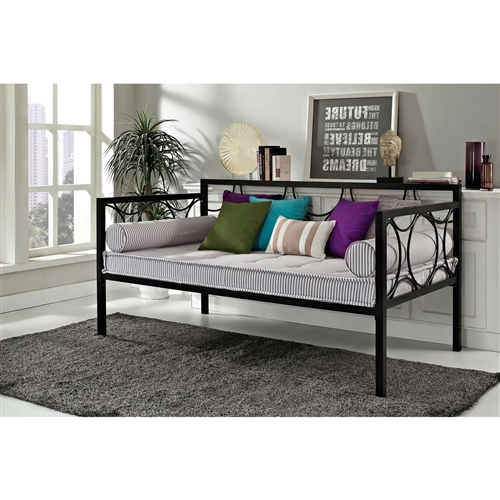 Twin Size Modern Black Metal Daybeds Use As Bed Or