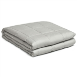 Weighted Blanket with 100% Cotton Cover in Light Gray 48 x 72 inch