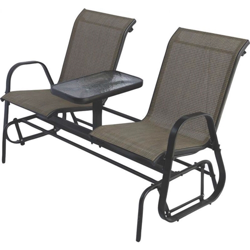 2 Person Outdoor Patio Furniture Glider Chairs With