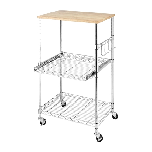 Sturdy Metal Kitchen Microwave Cart With Adjustable